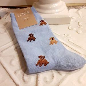 J. Crew Labradors Socks NWT